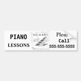 Adesivo Para Carro Lições de piano - customizáveis