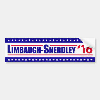 Adesivo Para Carro Limbaugh-Snerdley para o presidente 2016