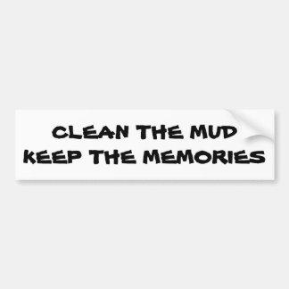 Adesivo Para Carro Limpe a lama mantêm as memórias