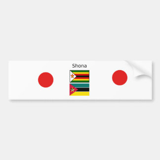 Adesivo Para Carro Língua de Shona e bandeiras de Zimbabwe e de