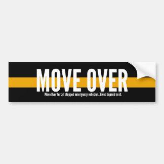Adesivo Para Carro Linha amarela fina movimento sobre o autocolante