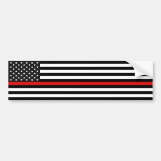 Adesivo Para Carro Linha vermelha fina bandeira americana