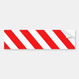 Adesivo Para Carro Listras de advertência brancas vermelhas