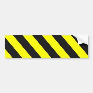 Adesivo Para Carro Listras de advertência pretas amarelas