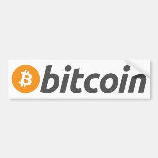 Adesivo Para Carro Logotipo de Bitcoin + texto