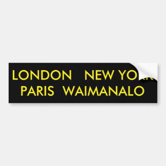 ADESIVO PARA CARRO LONDRES NEW YORK PARIS WAIMANALO