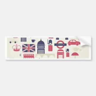Adesivo Para Carro Londres no coração