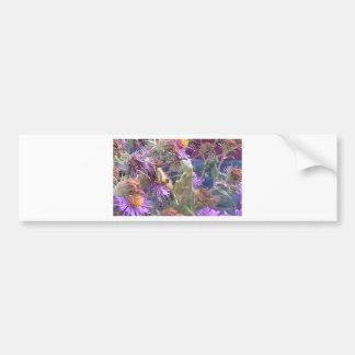 Adesivo Para Carro Louva-a-deus rapinando & flores roxas do cone