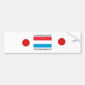 Adesivo Para Carro Luxembourg embandeira e design luxemburguês da