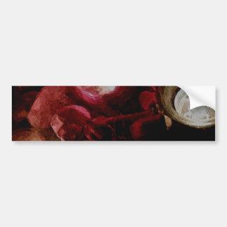 Adesivo Para Carro Luz romântica da vela do amor na arte vermelha da