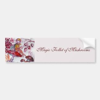 Adesivo Para Carro MÁGICA FOLLET da fantasia floral branca vermelha