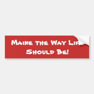 Adesivo Para Carro Maine a vida da maneira deve ser! Vermelho