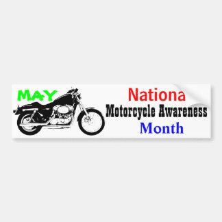 Adesivo Para Carro Maio - mês nacional da consciência da motocicleta