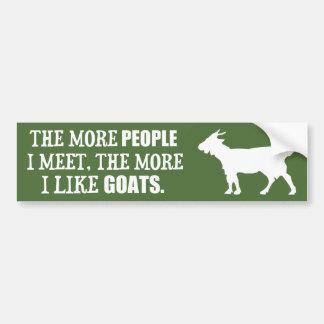 Adesivo Para Carro Mais eu gosto de cabras