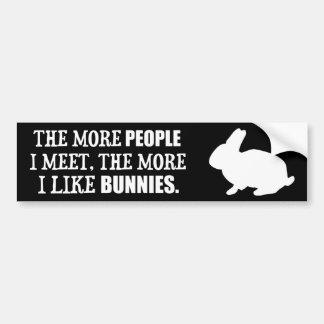 Adesivo Para Carro Mais eu gosto de coelhos