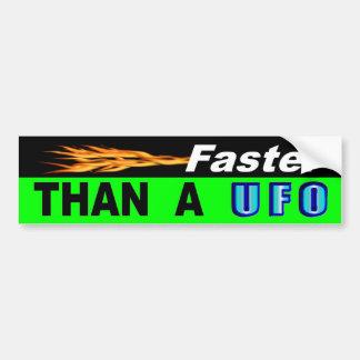 Adesivo Para Carro Mais rapidamente do que o UFO de A