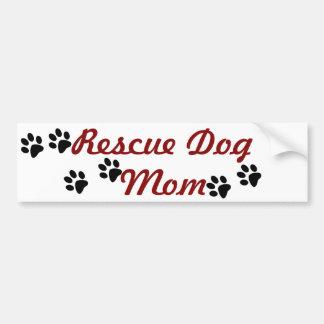 Adesivo Para Carro Mamã do cão do salvamento