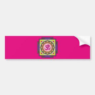 Adesivo Para Carro Mandala do OM Shanti OM