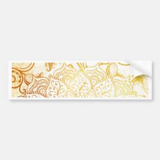 Adesivo Para Carro Mandala - escova dourada
