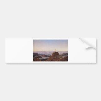 Adesivo Para Carro Manhã em Riesengebirge - Caspar David Friedrich