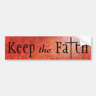 Adesivo Para Carro Mantenha a fé cristã