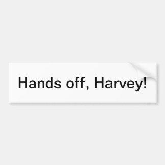 """Adesivo Para Carro """"Mãos fora, Harvey!"""" autocolante no vidro traseiro"""