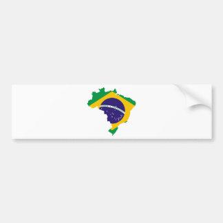 Adesivo Para Carro Mapa da bandeira de Brasil