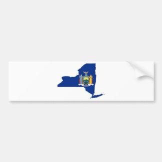 Adesivo Para Carro Mapa da bandeira de New York