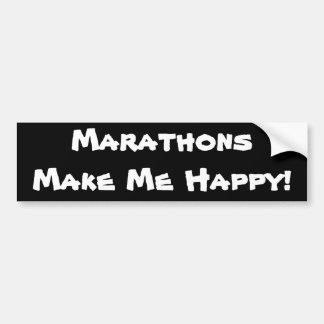 Adesivo Para Carro MarathonsMake mim feliz!