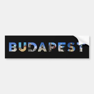 Adesivo Para Carro marco de Hungria da cidade de budapest dentro do