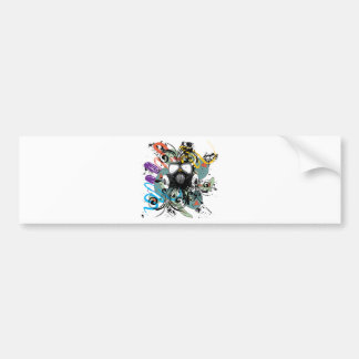 Adesivo Para Carro Máscara de gás floral do Grunge