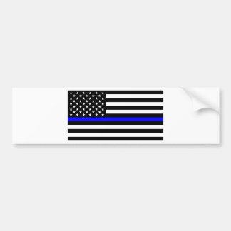 Adesivo Para Carro Matéria azul das vidas - a polícia da bandeira dos