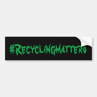 Adesivo Para Carro Matérias #Recycling