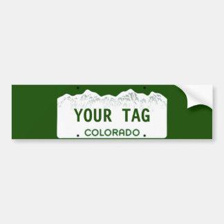 Adesivo Para Carro Matrícula feita sob encomenda de Colorado