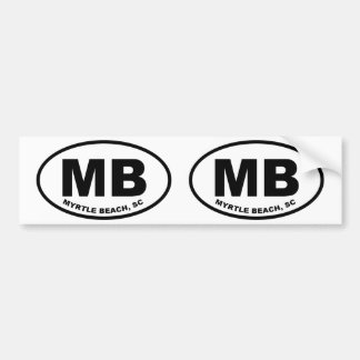 Adesivo Para Carro MB de Myrtle Beach
