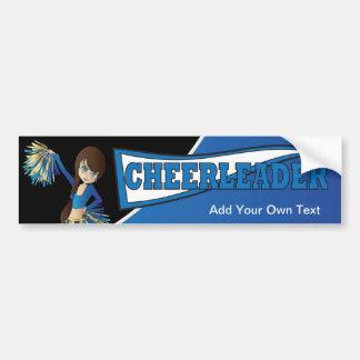 Adesivo Para Carro Menina azul da diva do cheerleader
