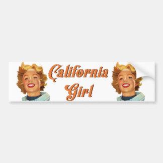 Adesivo Para Carro Menina de Califórnia