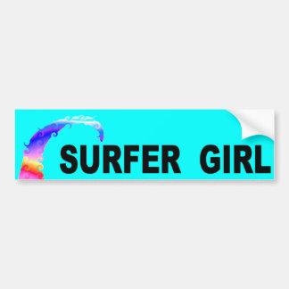 Adesivo Para Carro Menina do surfista
