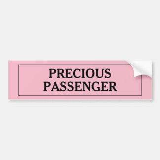 Adesivo Para Carro Menina preciosa do passageiro
