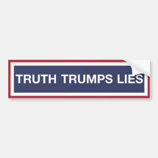 Adesivo Para Carro Mentiras dos trunfos da verdade