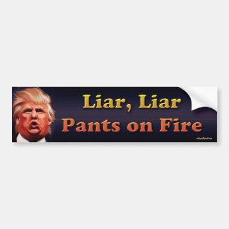 Adesivo Para Carro Mentiroso, mentiroso, calças no fogo