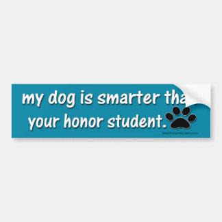 Adesivo Para Carro Meu cão é mais esperto do que….