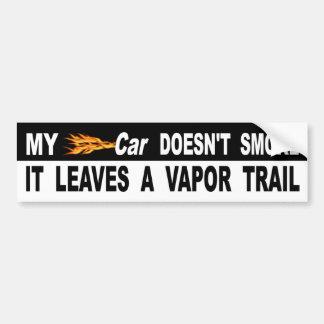 Adesivo Para Carro Meu carro não o fuma deixa uma fuga do vapor