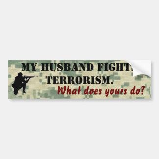 Adesivo Para Carro Meu marido luta o terrorismo