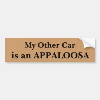 Adesivo Para Carro Meu outro carro é um Appaloosa
