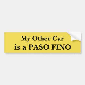 Adesivo Para Carro Meu outro carro é um Paso Fino