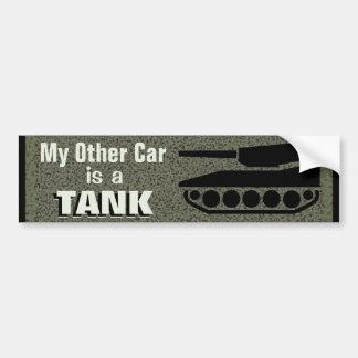 Adesivo Para Carro Meu outro carro é um tanque engraçado