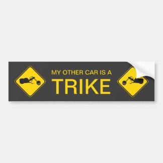 Adesivo Para Carro Meu outro carro é um Trike!