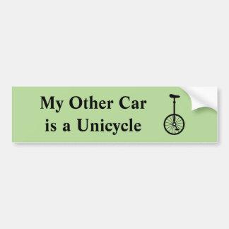 Adesivo Para Carro Meu outro carro é um Unicycle