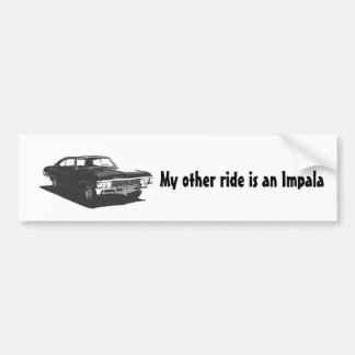 Adesivo Para Carro Meu outro passeio é um Impala